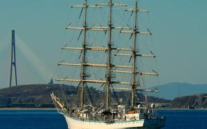 Картинка корабль, Надежда, Владивосток, парусный