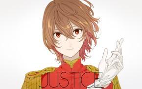 Картинка взгляд, игра, аниме, арт, парень, перчатка, Persona 5, Персона 5