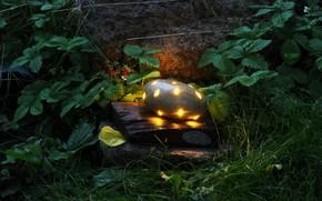 Картинка природа, настроение, камень, светильник, брызги солнца