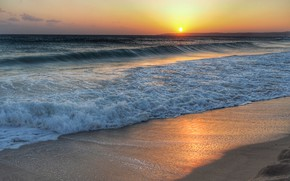 Картинка море, волны, пляж, лето, небо, закат, берег, summer, beach, sky, sea, sunset, seascape, beautiful, sand