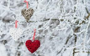 Картинка зима, снег, любовь, сердце, love, heart, winter, snow, romantic, valentine