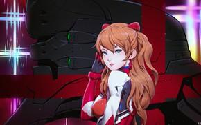 Картинка девушка, рыжая, Евангелион, Evangelion