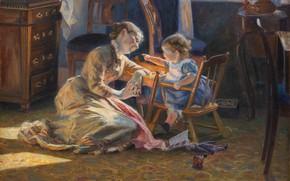 Картинка 1888, датский живописец, Statens Museum for Kunst, Danish realist painter, oil on canvas, Государственный музей …