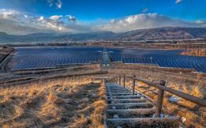 Картинка technology, Solar panels, sea of Solar