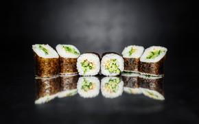 Картинка Japan, sushi, суши, морепродукты, roll, ролы, Food