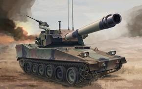Картинка US Army, опытный лёгкий авиадесантный танк США, 105mm Armored Gun System, AGS