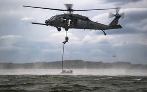 Картинка United States Air Force, HH-60G Pave Hawk, Sikorsky Aircraft Corporation, Военно-воздушные силы США, Combat search …