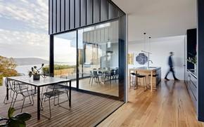 Картинка интерьер, кухня, терраса, столовая, Kart projects architecture, by Clancy Constructions, Mount Martha Residence