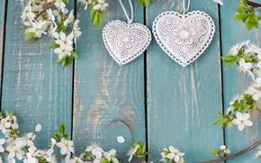 Картинка сердце, apple, весна, love, white, цветение, heart, wood, blossom, romantic, spring