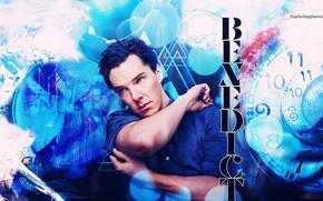Картинка абстракция, Бенедикт Камбербэтч, Benedict Cumberbatch, британский актер, by happinessismusic