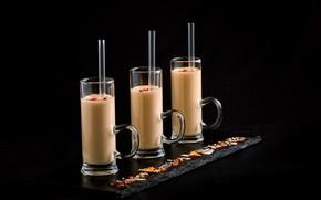 Картинка коктейль, стаканы, молочный