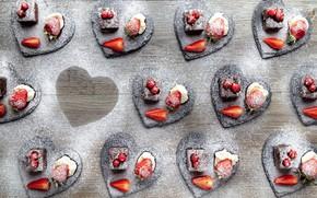 Картинка ягоды, крем, пирожные