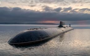 Картинка акула, подводный, крейсер, тяжелый, атомный, ракетный, дмитрий, донской