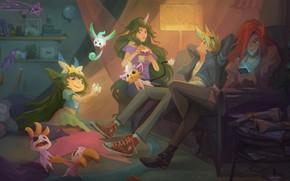 Картинка Soraka, League Of Legends, Miss Fortune, Lulu, Ezreal