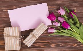 Картинка букет, подарки, тюльпаны