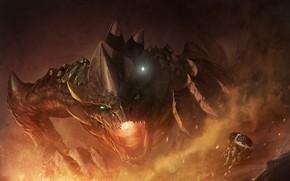 Картинка дракон, эльф, The Legend of Zelda