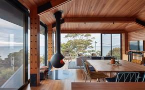 Картинка interior, glasshouse, Australian beach shack, Dorman house