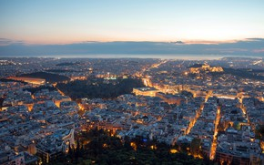 Картинка greece, blue hour, Athens