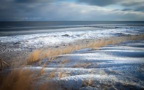 Картинка зима, берег, Mecklenburg-Vorpommern, Landkreis Vorpommern-Rügen, Müggenburg
