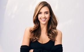 Картинка взгляд, улыбка, модель, Jessica Alba, актриса, Джессика Альба, hair