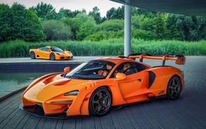 Картинка оранжевый, купе, McLaren, Senna, MSO, 2020, двухдверное, Senna LM