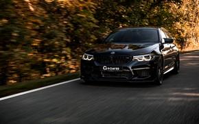 Картинка чёрный, BMW, седан, G-Power, 2018, BMW M5, четырёхдверный, M5, V8, F90, G5M Bi-Turbo, 800 л.с.