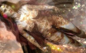 Картинка девушка, существо, фэнтези