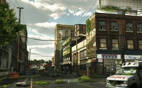Картинка город, здания, улицы, запустение, The last of us