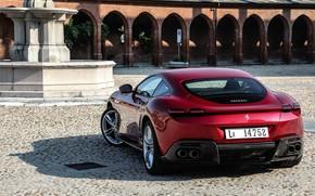 Картинка купе, сзади, Ferrari, Roma, 2020, двухдверное