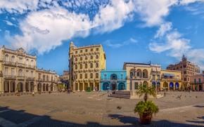 Картинка площадь, Куба, Гавана