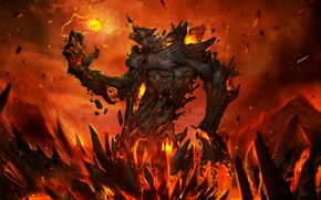 Картинка монстр, ужас, horror, рождение, легенда, monster, legend, hell, birth, магия огня, fire magic, lava monster, …