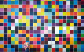 Картинка стена, цвет, девочка