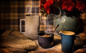 Обои кофе, чашки, напиток