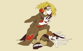 Картинка аниме, парень, Наруто, Naruto, акацки, Дейдара