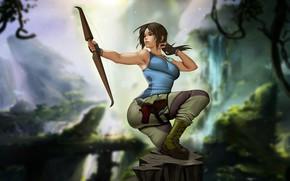 Картинка Девушка, Рисунок, Tomb Raider, Арт, Красотка, Секси, Фигура, Lara Croft, Illustration, Fan Art, Персонаж, Characters, …