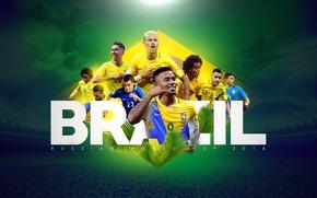 Картинка wallpaper, sport, team, football, Brasil, players