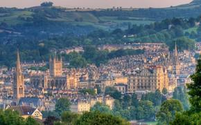 Картинка Англия, панорама, Сомерсет, Бат