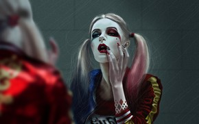Обои Девушка, Рисунок, Арт, Art, Харли Квинн, Comics, DC Comics, Harley Quinn, DC Art, by Kate ...