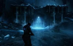 Картинка ночь, мужчина, Gears of War, Gears 5