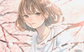 Картинка весна, сакура, девочка