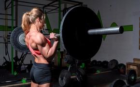 Картинка blonde, workout, fitness, gym