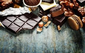 Картинка плитка, шоколад, печенье, конфеты, орехи, Natalia Klenova