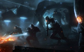 Картинка фантастика, десант, высадка, Invasion, Wojtek Fus