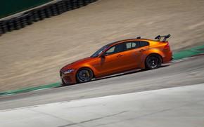 Картинка оранжевый, Jaguar, вид сбоку, 2018, XE SV Project 8