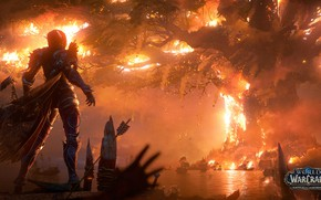 Картинка огонь, пламя, fire, flame, undead, Teldrassil, нежить, Sylvanas Windrunner, вождь, night elves, Орда, warchief, Horde, …