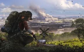 Картинка девушка, арт, солдат, агент, вашингтон, Ubisoft, Game, Tom Clancy's The Division 2, The Division 2