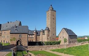 Картинка замок, Германия, Hessen, Steinau An Der Strasse