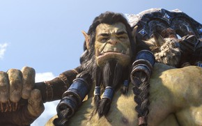 Картинка Орк, Тралл, World Of Warcraft, Thrall, Секира, Битва за Азерот, Battle for Azeroth, Вождь Орды, …