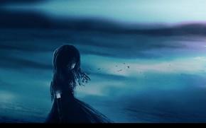 Картинка пустота, одиночество, безысходность, малышка, черный силуэт, мрачное место