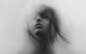 Картинка Девушка, Лицо, Арт, Reha Sakar, by Reha Sakar, Girl Underwater, Jacob Sutton
